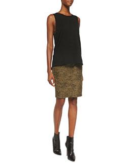 Current/Elliott The Muscle Tee & The Soho Zip Stiletto Pencil Skirt