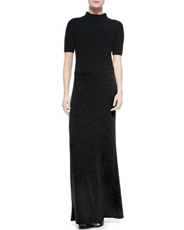 Theory Jodi Mock-Neck Knit Top & Niya Knit Maxi Dress