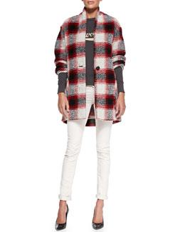Isabel Marant Etoile Gabrie Plaid Coat, Gen Revolution Sweatshirt & Iti Corduroy Pants