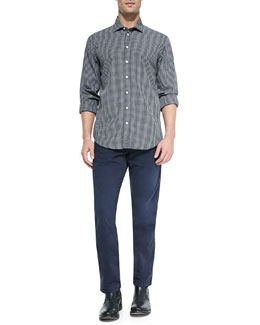 Charles Check Sport Shirt & Five-Pocket Relaxed Trousers