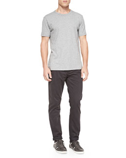 Short-Sleeve Perfect Jersey Tee & Four-Pocket Relaxed Trousers