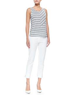 Debardeur Patchwork Striped Tank Top & Bing Court Ankle Pants