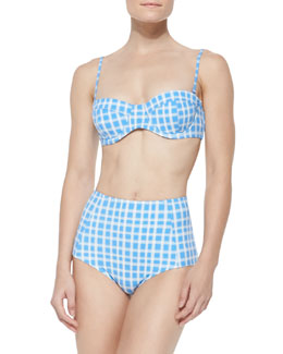 Lucy Printed Underwire Top & Charlotte Printed High-Waist Bottom