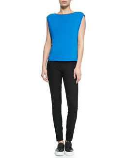 Faint Layering Top in Stretch Knit & Pull-On Jersey Leggings