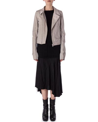 Stogges Lambskin Biker Jacket, Tunic Samincata Sleeveless Tunic & Gonna Moody Asymmetric Knit Skirt