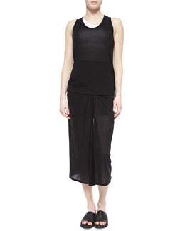 Entity Slub-Jersey Tank & Gathered Slub-Jersey Skirt