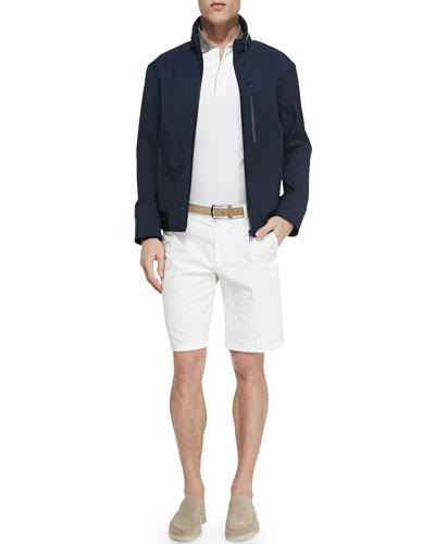 Regatta Zip-Up Jacket, Contrast-Collar Polo & Flat-Front Bermuda Shorts