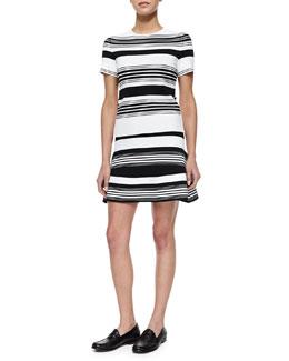 Bonnie Striped Knit Top & Judy Striped A-Line Knit Skirt