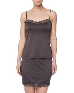 Capri Lace-Trimmed Camisole & Half Slip, Shale