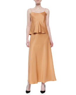 Classica Charmeuse Relaxed Camisole & A-Line Charmeuse Maxi Skirt