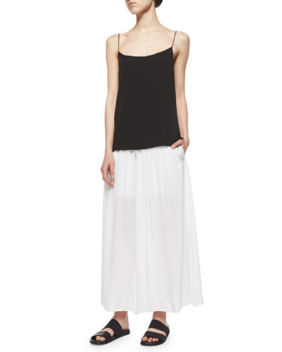 Revolve Jersey Cami & Gaze Semisheer Crepe Maxi Skirt