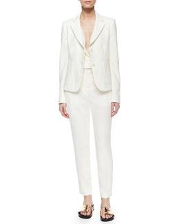 Ornella Admiral Crepe Jacket, CS Alizay Modern Silk Top & Testra Two B. Crepe Pants