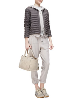 Quilted Tech Snap-Front Jacket, Cashmere Two-Way Zip-Front Hoodie, Round-Neck Jersey Tank Top & Cashmere Drawstring Jogger Pants