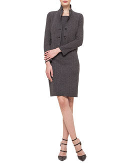 Cashmere-Blend Herringbone Jacket & Cashmere-Blend Herringbone Sheath Dress