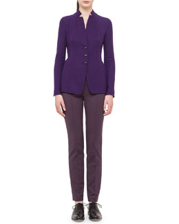 Cashmere-Blend Jersey Reversible Button Jacket & Melissa Slim-Fit Techno Pants