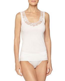 Savona Lace-Trimmed Tank Top & High-Cut Brief