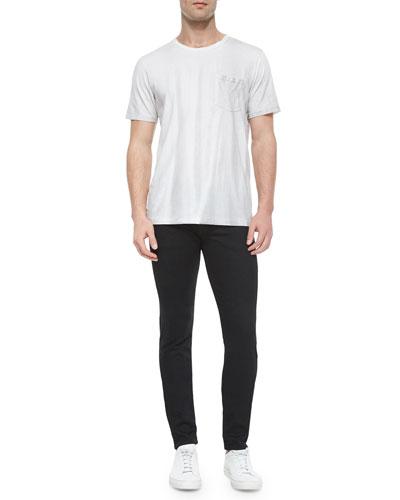 Short-Sleeve Crewneck Tee & Slim Skinny-Leg Denim Jeans