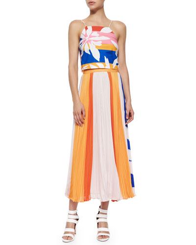 Marrisa Flower-Stripes Top & Carmen Skirt