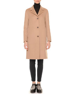 Cashmere-Blend Three-Button Coat & Jersey Ultra-Skinny Pants