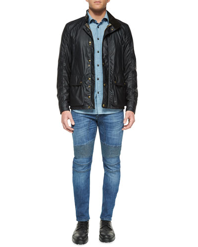 Tourmaster Coated Zip-Up Jacket, Lowry Chambray Long-Sleeve Shirt & Eastham Slim-Fit Washed Denim Jeans
