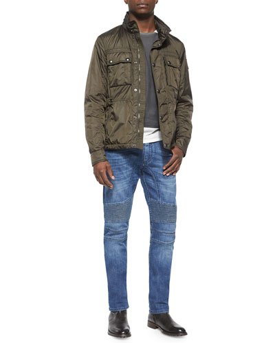 Chepstow Nylon Button-Front Jacket, Hallet Jersey Graphic Short-Sleeve Tee & Eastham Slim-Fit Washed Denim Jeans