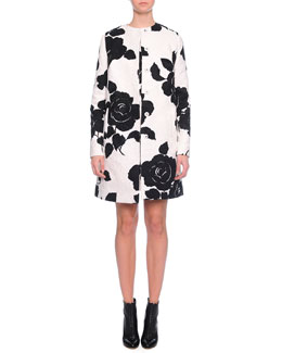 Floral-Print Topper Coat & Shift Dress