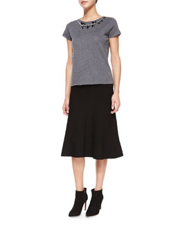 Milano Necklace Top & A-line Jersey Skirt