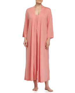 Shangri-La Jersey Tank Robe & Gown, Red-Orange