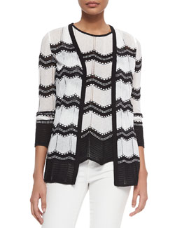 Dot Waves Knit Cardigan & Dot Waves Knit Tank