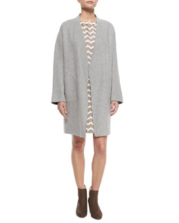 Singer Bemberg® Cupro Coat & Chester Chevron-Print Silk Dress