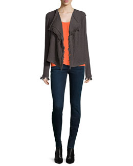Nalah B Boucle Knit Jacket & Zumila Racerback Silk Top