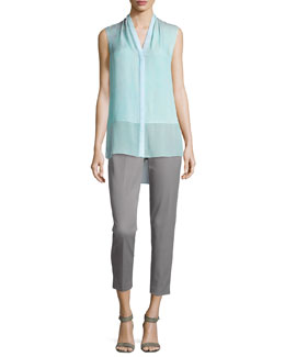 Hayden Sleeveless Blouse & Marcia Straight-Leg Pants