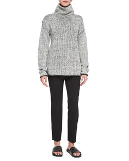 Tessalee Fine Haven Sweater & Treeca Straight-Leg Faded Pants