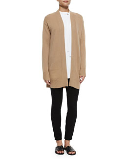 Analiese Cashmere Cardigan & Adbelle Pull-On Stretch Leggings