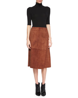 Leenda Turtleneck Sweater & Gantrima Wrap Skirt