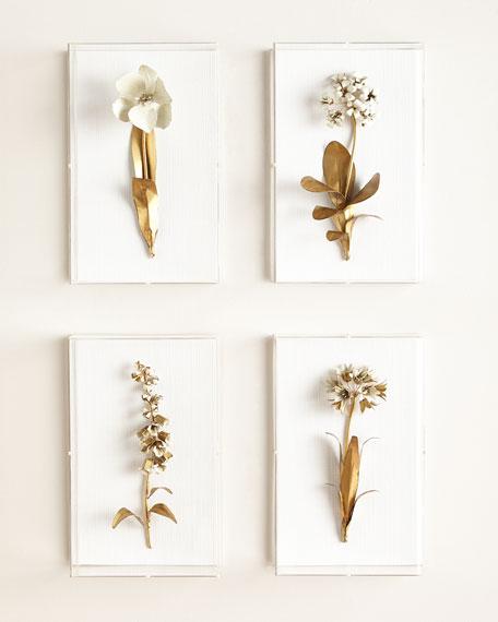 Original Gilded Primula Study on Linen