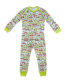 Hot Wheels Pajama Shirt & Pants, Light Blue