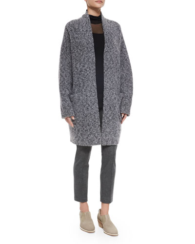 Diana Wool-Blend Sweater Coat, Ellen Double-Layer Turtleneck & Polly Cropped Wool Pants