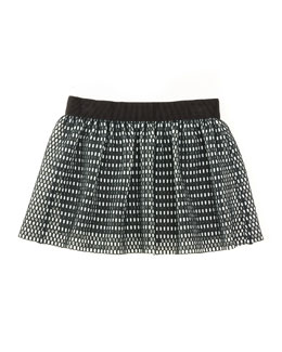 Couture Mesh Skirt, Black/White