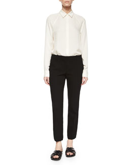 Lanali Modern Long-Sleeve Top & Talluva Straight-Leg Faded Pants