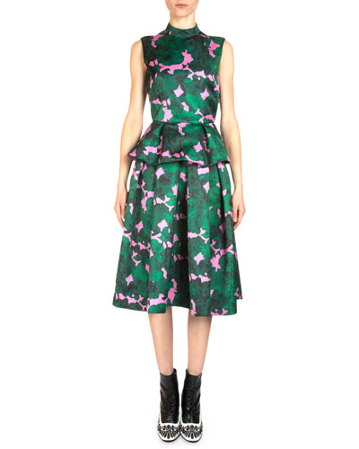 Hilda Floral-Print Peplum Top & Ina Floral-Print Midi Party Skirt