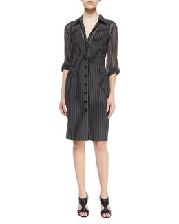 Striped Gilet Vest Dress & Lorelei Chiffon Blouse
