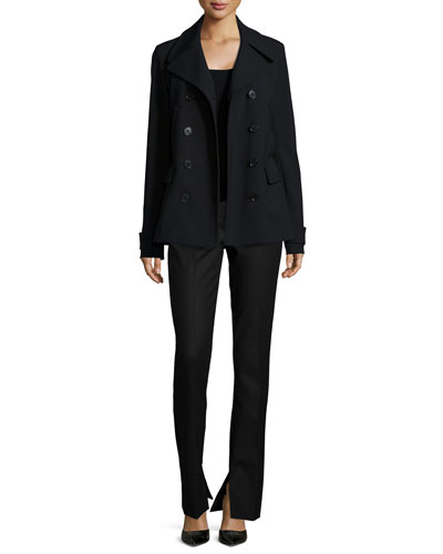 Joanta Faded Wool-Blend Jacket & Talluva Faded Straight-Leg Pants
