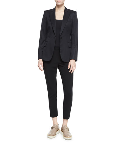 Iris One-Button Blazer & Tamara Paisley Track Pants