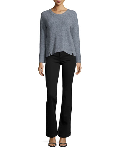 Burlington Long-Sleeve Sweater & Maria High-Rise Flare Jeans