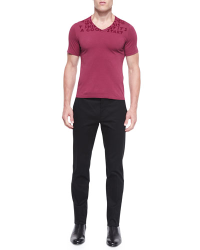 Awareness Short-Sleeve Tee & Slim-Fit Twill Trousers
