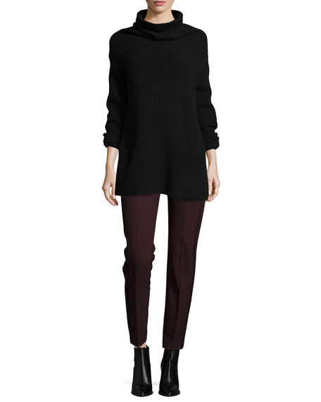 Oversize Ribbed Knit Turtleneck Sweater