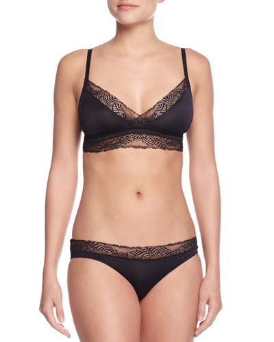 Chloe Lace-Trimmed Soft Bra & Bikini Briefs