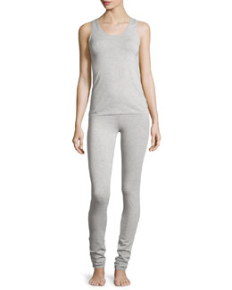 New Project Scoop-Neck Racerback Tank & Leggings