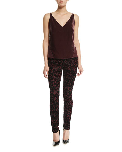 Lucy V-Neck Camisole & Mid-Rise Super-Skinny Jeans